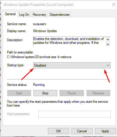 Step 4-How to turn auto update off in Win 10